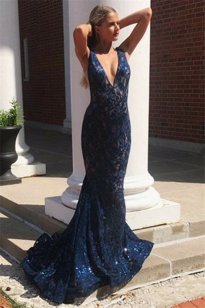 Affordable Straps Lace Mermaid Prom Dress_2