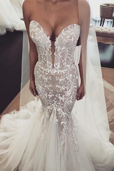 Fascinating V-neck Tulle Mermaid Prom Dress_1