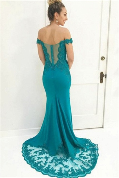 Glorious Off-the-shoulder Chiffon Mermaid Prom Dress_2
