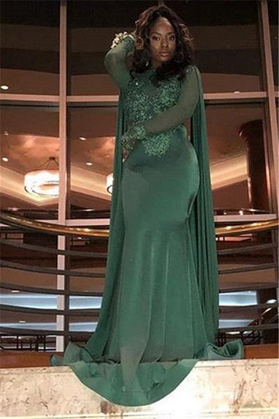 Elegant Jewel Stretch Satin Mermaid Prom Dress_5