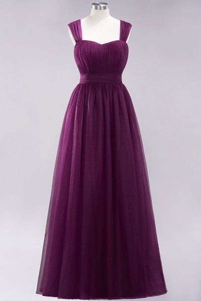 A-Line Chiffon Sweetheart Straps Sleeves Floor-Length Bridesmaid Dresses with Ruffles_19
