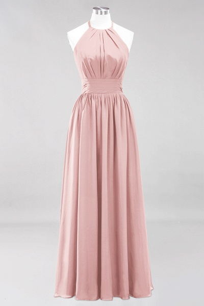 A-line Chiffon Appliques Halter Sleeveless Floor-Length Bridesmaid Dresses with Ruffles_6