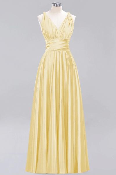 BM0143 Simple A-Line V-Neck Sleeveless Ruffles Floor Length Bridesmaid Dress_17