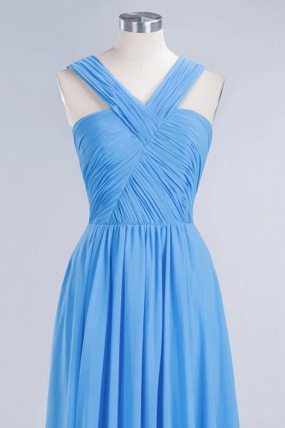 BM0048 A-Line Chiffon Straps Sleeveless Ruffles Floor Length Bridesmaid Dresses_10