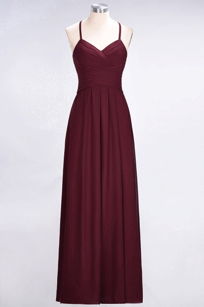 A-Line Chiffon Halter V-Neck Sleeveless Floor-Length Bridesmaid Dress with Ruffles_43