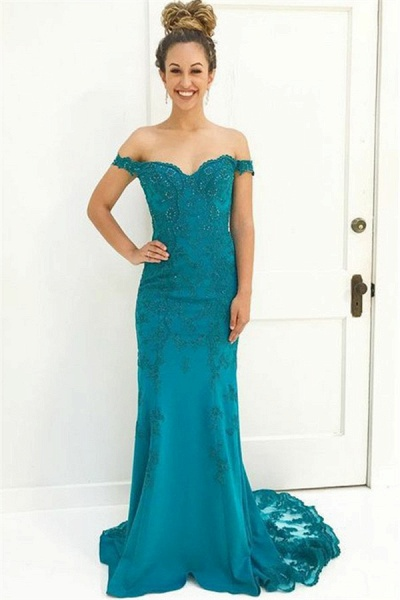 Glorious Off-the-shoulder Chiffon Mermaid Prom Dress_1
