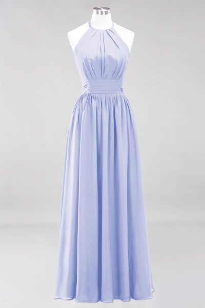 A-line Chiffon Appliques Halter Sleeveless Floor-Length Bridesmaid Dresses with Ruffles_21