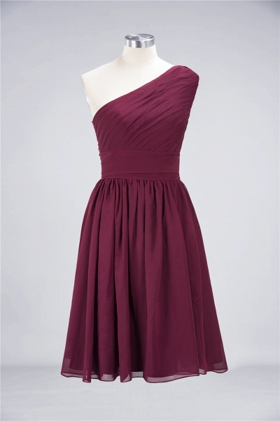 A-Line Chiffon One-Shoulder Sleeveless Knee-Length Bridesmaid Dress with Ruffles_8