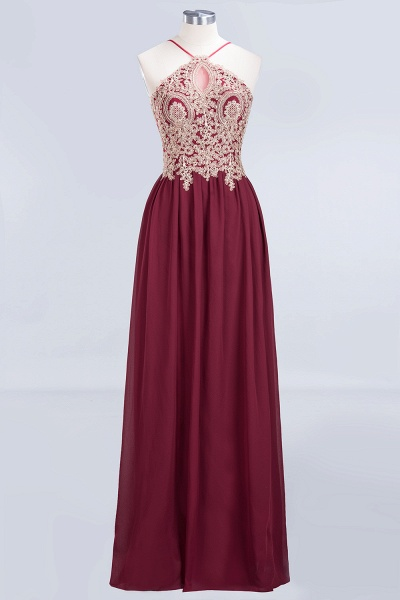 A-Line Chiffon Spaghetti-Straps Sleeveless Backless Floor-Length Bridesmaid Dress with Appliques_4