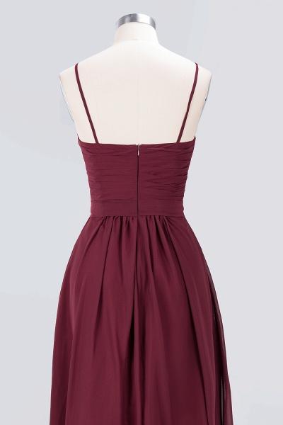 A-Line Chiffon Sweetheart Spaghetti-Straps Backless Floor-Length Bridesmaid Dress with Ruffles_6