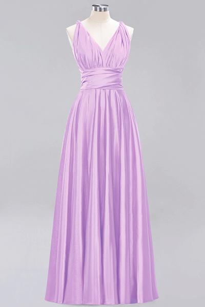 BM0143 Simple A-Line V-Neck Sleeveless Ruffles Floor Length Bridesmaid Dress_20