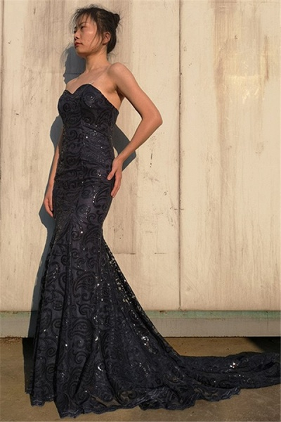Exquisite Sweetheart Tulle Mermaid Prom Dress_3