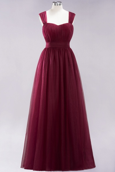 A-Line Chiffon Sweetheart Straps Sleeves Floor-Length Bridesmaid Dresses with Ruffles_10