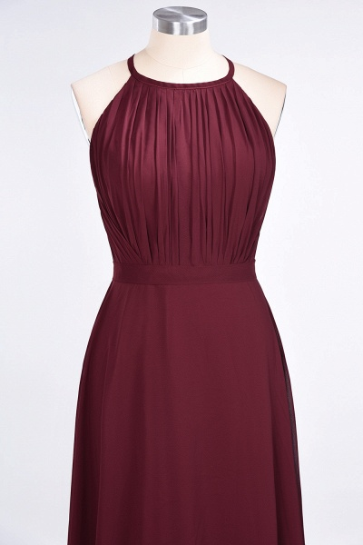 A-Line Chiffon Jewel Sleeveless Floor-Length Bridesmaid Dress with Ruffles_4