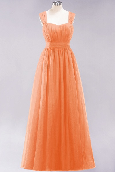 A-Line Chiffon Sweetheart Straps Sleeves Floor-Length Bridesmaid Dresses with Ruffles_15