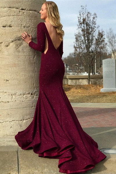Awesome Jewel Sequined Column Prom Dress_2