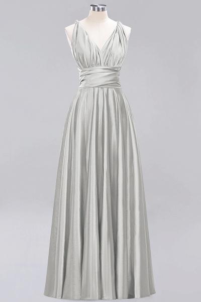 BM0143 Simple A-Line V-Neck Sleeveless Ruffles Floor Length Bridesmaid Dress_29