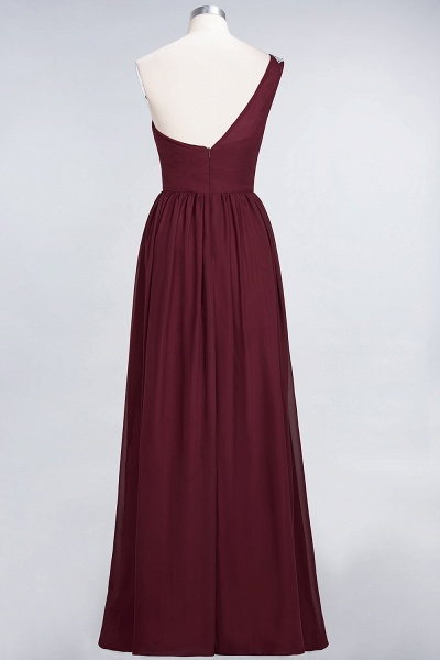 A-Line Chiffon One-Shoulder Sleeveless Ruffles Floor-Length Bridesmaid Dress with Beadings_36
