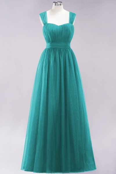 A-Line Chiffon Sweetheart Straps Sleeves Floor-Length Bridesmaid Dresses with Ruffles_31