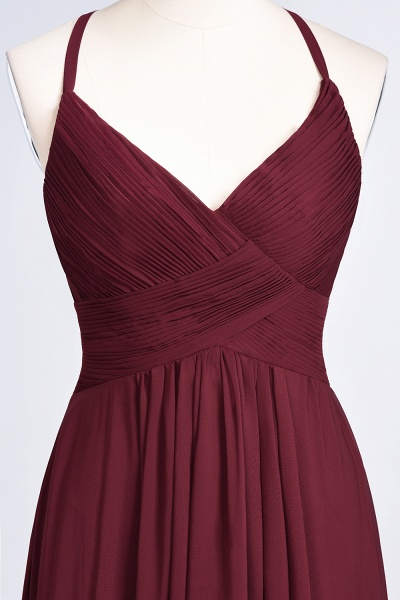 A-Line Chiffon Spaghetti-Straps V-Neck Sleeveless Floor-Length Bridesmaid Dress with Ruffles_38
