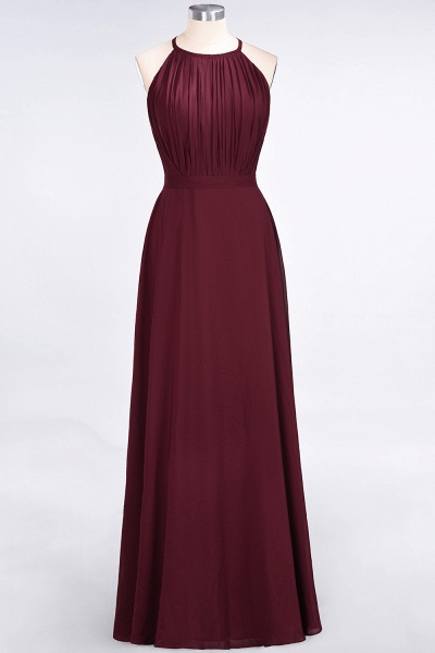 A-Line Chiffon Jewel Sleeveless Floor-Length Bridesmaid Dress with Ruffles_1