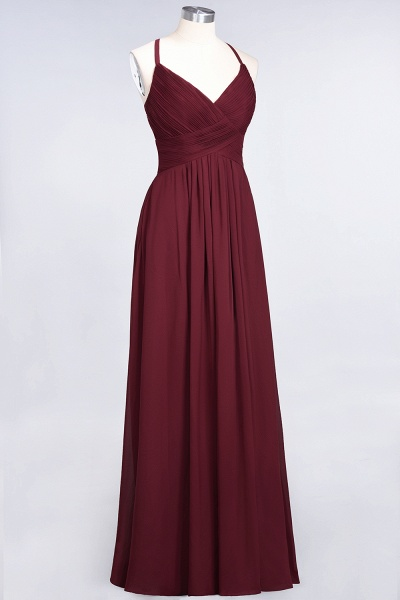 A-Line Chiffon Spaghetti-Straps V-Neck Sleeveless Floor-Length Bridesmaid Dress with Ruffles_37