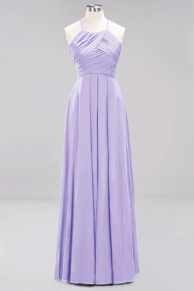 A-Line Chiffon Halter Ruffles Floor-Length Bridesmaid Dress_20