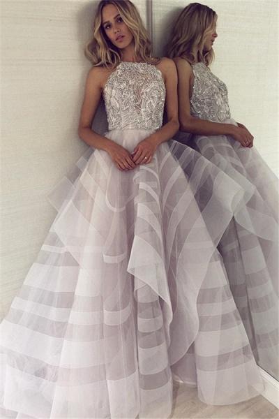 Fabulous Halter Organza A-line Prom Dress_1