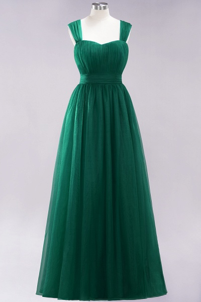 A-Line Chiffon Sweetheart Straps Sleeves Floor-Length Bridesmaid Dresses with Ruffles_30