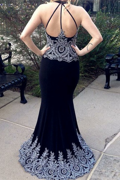 Amazing Halter Spandex Column Prom Dress_2