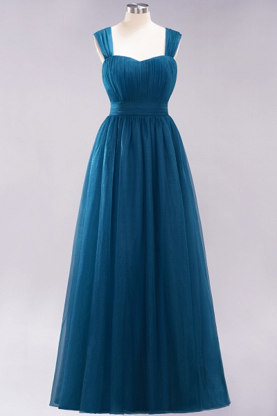 A-Line Chiffon Sweetheart Straps Sleeves Floor-Length Bridesmaid Dresses with Ruffles_26