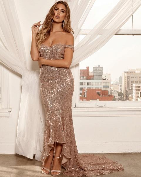 Excellent Off-the-shoulder Column Prom Dress_4