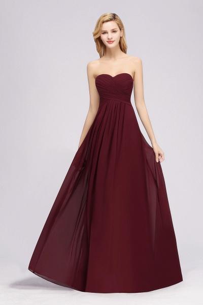 A-line Chiffon Sweetheart Strapless Ruffles Floor-length Bridesmaid Dress_53