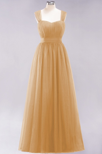 A-Line Chiffon Sweetheart Straps Sleeves Floor-Length Bridesmaid Dresses with Ruffles_13