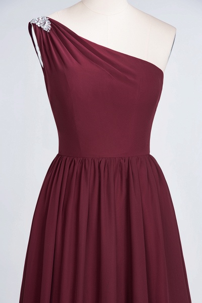 A-Line Chiffon One-Shoulder Sleeveless Ruffles Floor-Length Bridesmaid Dress with Beadings_38