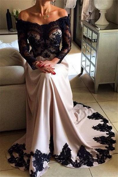 Fascinating Bateau Satin A-line Prom Dress_1