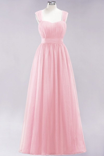 A-Line Chiffon Sweetheart Straps Sleeves Floor-Length Bridesmaid Dresses with Ruffles_3