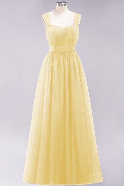 A-Line Chiffon Sweetheart Straps Sleeves Floor-Length Bridesmaid Dresses with Ruffles_17