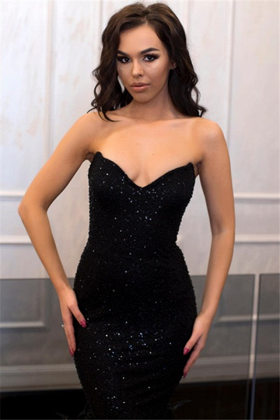 Fabulous Strapless Sequined Mermaid Prom Dress_3