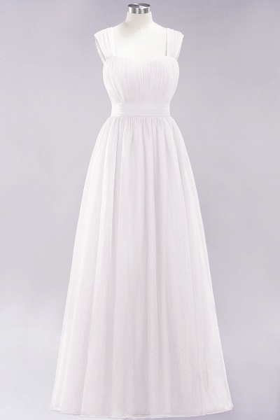 A-Line Chiffon Sweetheart Straps Sleeves Floor-Length Bridesmaid Dresses with Ruffles_1