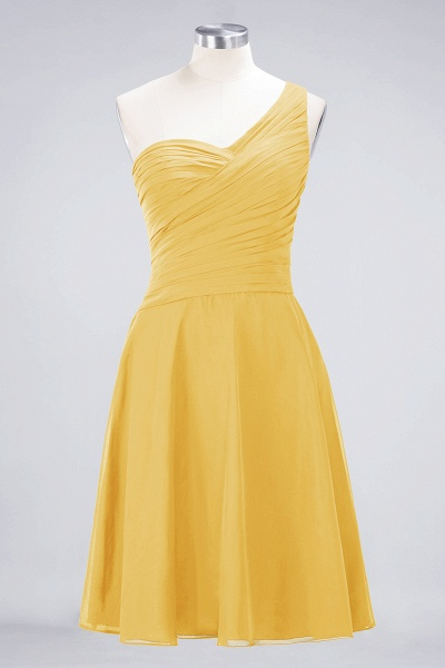 A-Line Chiffon One-Shoulder Sweetheart Sleeveless Knee-Length Bridesmaid Dress with Ruffles_16