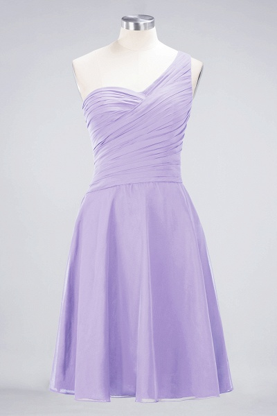 A-Line Chiffon One-Shoulder Sweetheart Sleeveless Knee-Length Bridesmaid Dress with Ruffles_20