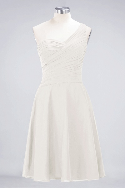 A-Line Chiffon One-Shoulder Sweetheart Sleeveless Knee-Length Bridesmaid Dress with Ruffles_2