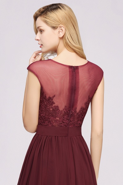 A-line Chiffon Lace Jewel Sleeveless Floor-Length Bridesmaid Dresses with Appliques_56