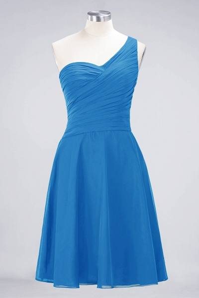 A-Line Chiffon One-Shoulder Sweetheart Sleeveless Knee-Length Bridesmaid Dress with Ruffles_24