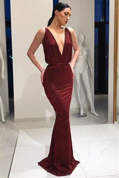 Latest V-neck Mermaid Prom Dress_1