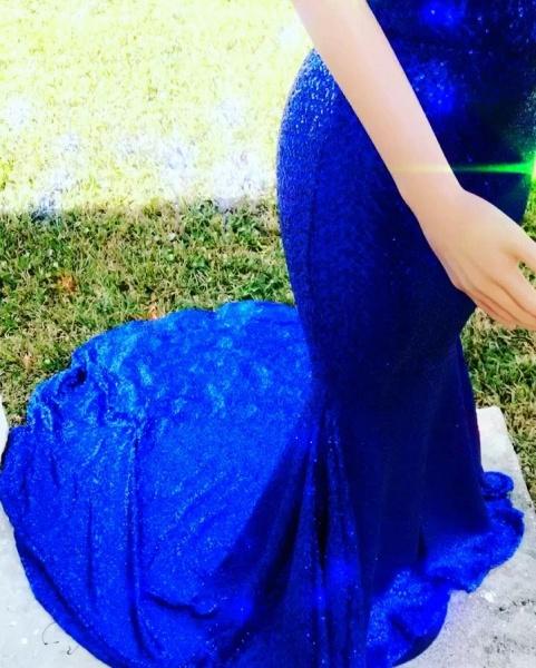 Beautiful V-neck Mermaid Prom Dress_3