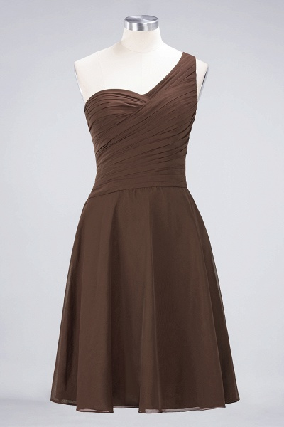 A-Line Chiffon One-Shoulder Sweetheart Sleeveless Knee-Length Bridesmaid Dress with Ruffles_12