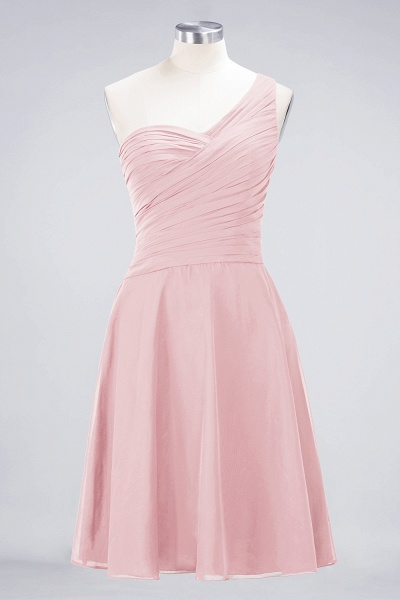 A-Line Chiffon One-Shoulder Sweetheart Sleeveless Knee-Length Bridesmaid Dress with Ruffles_3