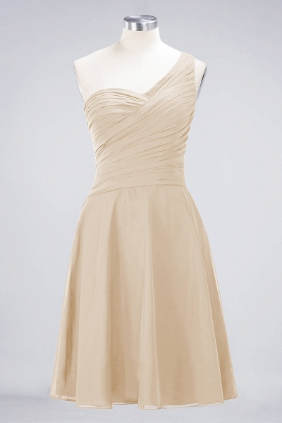 A-Line Chiffon One-Shoulder Sweetheart Sleeveless Knee-Length Bridesmaid Dress with Ruffles_14